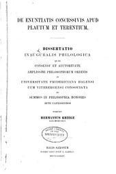 De enuntiatis concessivis apud Plautum et Jerentium