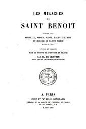 Les miracles de Saint Benoît