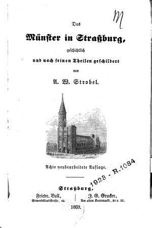 Das M  nster in Strassburg PDF