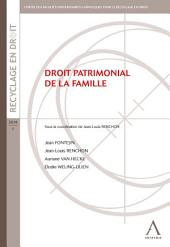 Droit patrimonial de la famille: Droit belge