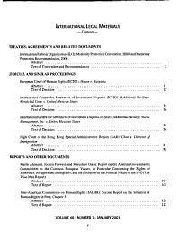 International Legal Materials PDF