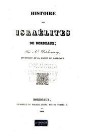 Histoire des IsraBelites de Bordeaux