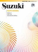 Suzuki Flute School, Vol 1: Flute Part, Book & CD