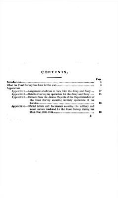 Military and Naval Service of the United States Coast Survey 1861 1865