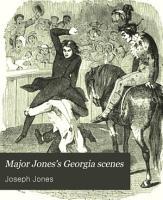 Major Jones  Georgia Scenes PDF