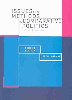 Issues and Methods in Comparative Politics Book