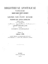 Codices vrbinates latini: Volume 1