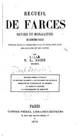 Recueil de farces: soties et moralités du quinzième siècle