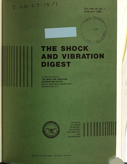 The Shock and Vibration Digest PDF