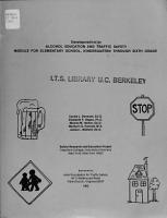 Development of an Alcohol Education and Traffic Safety Module for Elementary School  Kindergarten Through Sixth Grade PDF