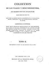 Colección de los viages y descubrimientos que hicieron por mar los españoles desde fines del siglo XV, 2: con varios documentos inéditos ...