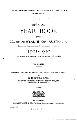 Official Year Book of the Commonwealth of Australia No  4   1911 PDF