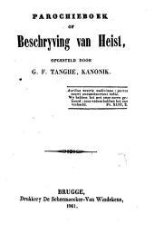 Parochieboek of beschrijving van Heist