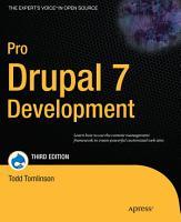 Pro Drupal 7 Development PDF