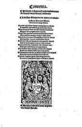 Contenta. Primum volumen contemplationum Remundi duos libros continens. Libellus Blaquerne de amico et amato ..