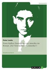 """Franz Kafkas Darstellung von Amerika im Roman """"Der Verschollene"""" (""""Amerika"""")"""