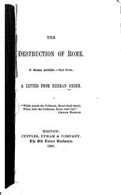 The Destruction of Rome: A Letter