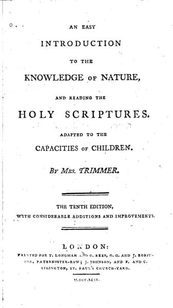 Download An Easy Introduction to the Knowledge of Nature  and Reading the Holy Scriptures Book