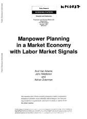 Manpower Planning in a Market Economy with Labor Market Signals