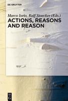 Actions  Reasons and Reason PDF