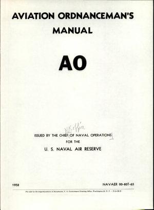 Aviation Ordnancemen s Manual  AO  PDF