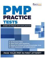 PMP Practice Tests Based on PMBoK6 with Explanations PDF