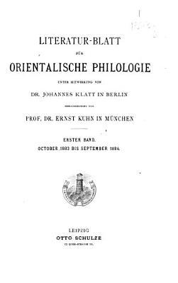 Literatur Blatt f  r orientalische Philologie PDF