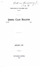 Sierra Club Bulletin: Volume 7