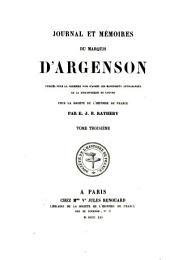 Journal et mémoires du marquis d'Argenson