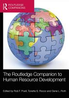 The Routledge Companion to Human Resource Development PDF
