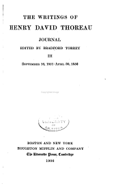 Journal, ed. by Bradford Torrey, 1837-1846, 1850-Nov. 3, 1861