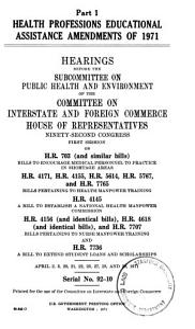 Health Professions Educational Assistance Amendments of 1971 PDF