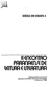II Encontro Paranaense de Leitura e Literatura PDF