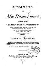 Memoirs of Mrs. Rebecca Steward, Containing