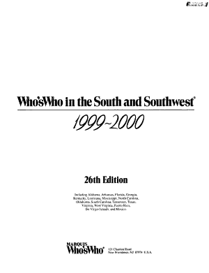 Who's Who in the South and Southwest