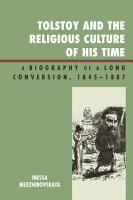 Tolstoy and the Religious Culture of His Time PDF