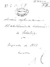 Memoria reglamentaria del establecimiento balneario de Jabalcuz: temporada de 1877