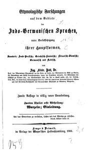 Etymologische Forschungen auf dem Gebiete der Indo Germanischen Sprachen PDF