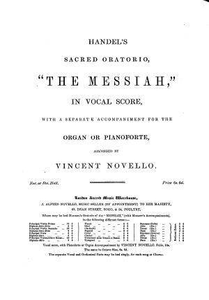 Handel s Sacred Oratorio   The Messiah   PDF