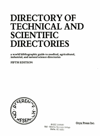 Directory of Technical and Scientific Directories PDF