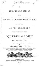 "A Preliminary Report on the Geology of New Brunswick: Together with a Special Report on the Distribution of the ""Quebec Group"" in the Province"