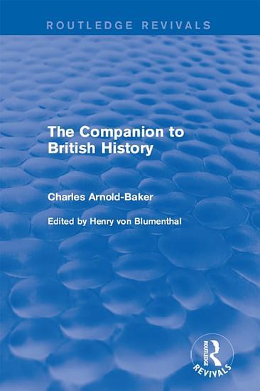 The Companion to British History PDF