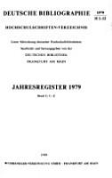 Deutsche Bibliographie  Hochschulschriften Verzeichnis PDF
