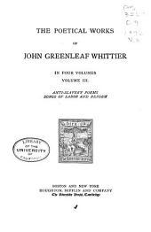 The Poetical Works of John Greenleaf Whittier: Volume 3
