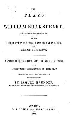 The Plays of William Shakspeare PDF