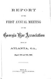 Report of the Annual Session of the Georgia Bar Association
