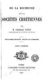 De la richesse dans les sociétés chrétiennes: Volume3