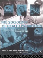The Sociology of Health Promotion PDF