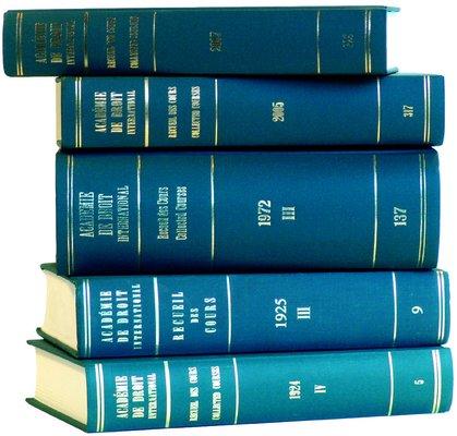Recueil des Cours  Collected Courses  Volume 252  1995