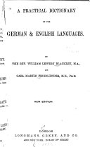 A Practical Dictionary Of The German English Language
